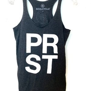 Soulcycle gray tank top